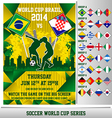 World Cup 2014 Flyer vector image vector image