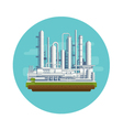 Oil Production Plant vector image