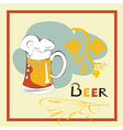 template for beer menu vector image vector image