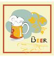 template for beer menu vector image