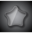 Glass Frame Star Button on Checkered Abstract vector image