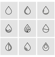 line drop icon set vector image