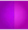 background for invitation with violet floral vector image