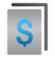 Banking Document Gradient Icon vector image