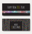 Greeting card with bright brilliant garlands vector image