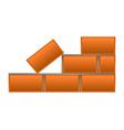 group of bricks vector image
