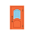 orange entrance door to house closed elegant door vector image