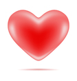 red shiny heart shape vector image