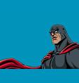 superhero portrait black vector image
