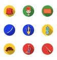Turkey set icons in flat style Big collection of vector image