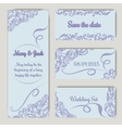 Wedding set in lavender color vector image