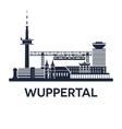 Wuppertal Skyline Emblem vector image