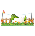 A crocodile in the fence vector image