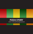 circle pattern set pizza story seamless vector image