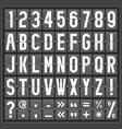 alphabet of mechanical panel vector image
