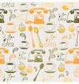 Vintage Afternoon Tea Pattern Vector Image