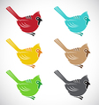 Bird angry vector image