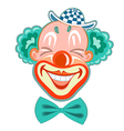 hilarious laughing clown in a retro style vector image