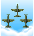 Planes flying in the sky vector image
