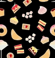 Sweet and bakery seamless pattern for decoration vector image