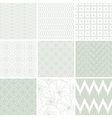 Retro Seamless Patterns Set vector image vector image