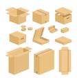 Carton box pack set vector image