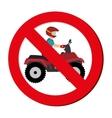 prohibited sign Extreme sport athlete avatar vector image