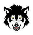 angry wolf vector image vector image