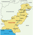 Islamic Republic of Pakistan - map vector image vector image