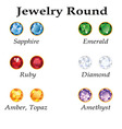 Jewelry Round Isolated Objects vector image