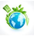 Ecology symbol globe vector image