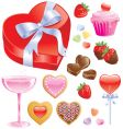 valentine treats vector image