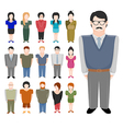 People icons set vector image vector image