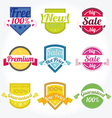 spanish retro satisfaction labels vector image vector image