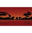 beauty silhouette of safari animal vector image