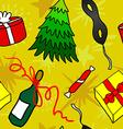 Cartoon Christmas seamless pattern vector image
