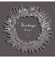 Design floral wreath vector image