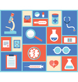 Flat medical symbols and instruments vector image