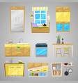 kitchen interior furniture and home vector image