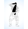 old school rap dancer vector image