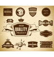 Set of vintage labels on the cardboard Collection vector image