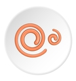 Spiral icon cartoon style vector image