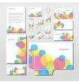 stationery set with colorful circles vector image
