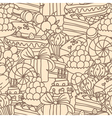sweet pattern monochrome vector image