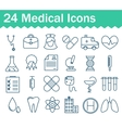 Thin line medical icons set Outline icon vector image