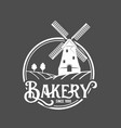 Vintage retro bakery logo badge and label vector image