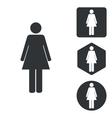 Woman icon set monochrome vector image