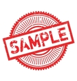 Sample stamp rubber grunge vector image vector image