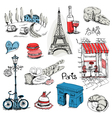 Paris Set vector image vector image
