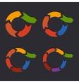 Embossed Circle Arrows Set vector image